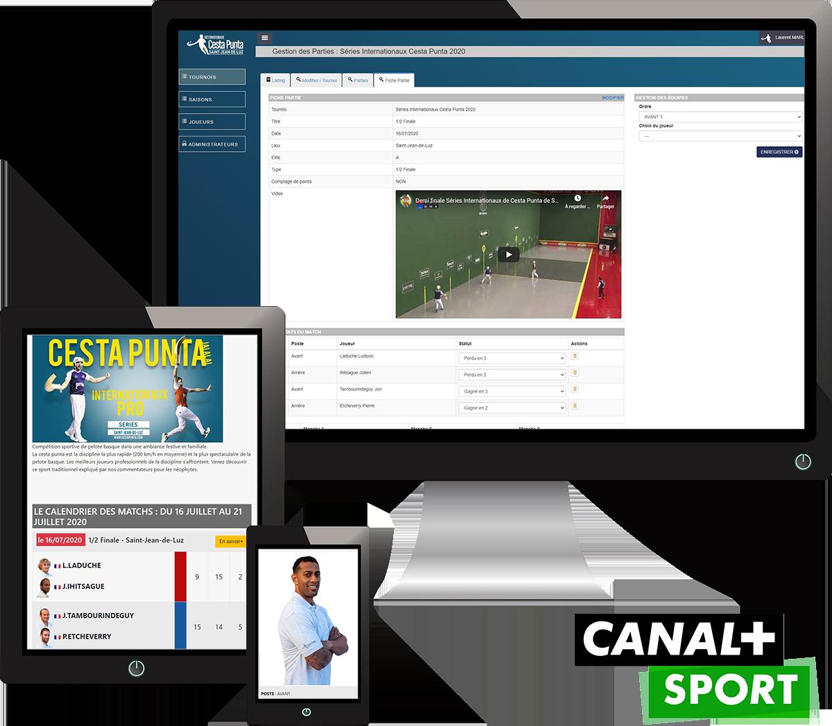 Logiciel de gestion des compétitions - Cestapunta Pro Tour